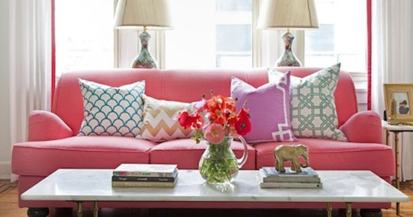 belle maison: Summer Updates :: Colorful & Bold Accent Pillows