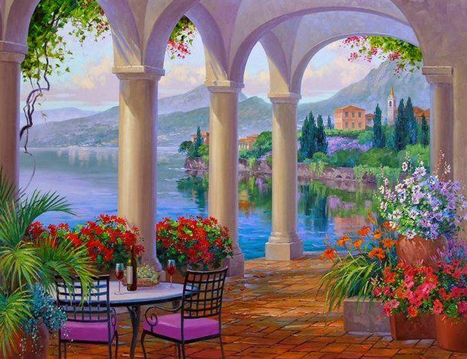 paisajes-y-flores-pintados-con-espátula