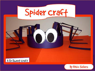 printable spider hat