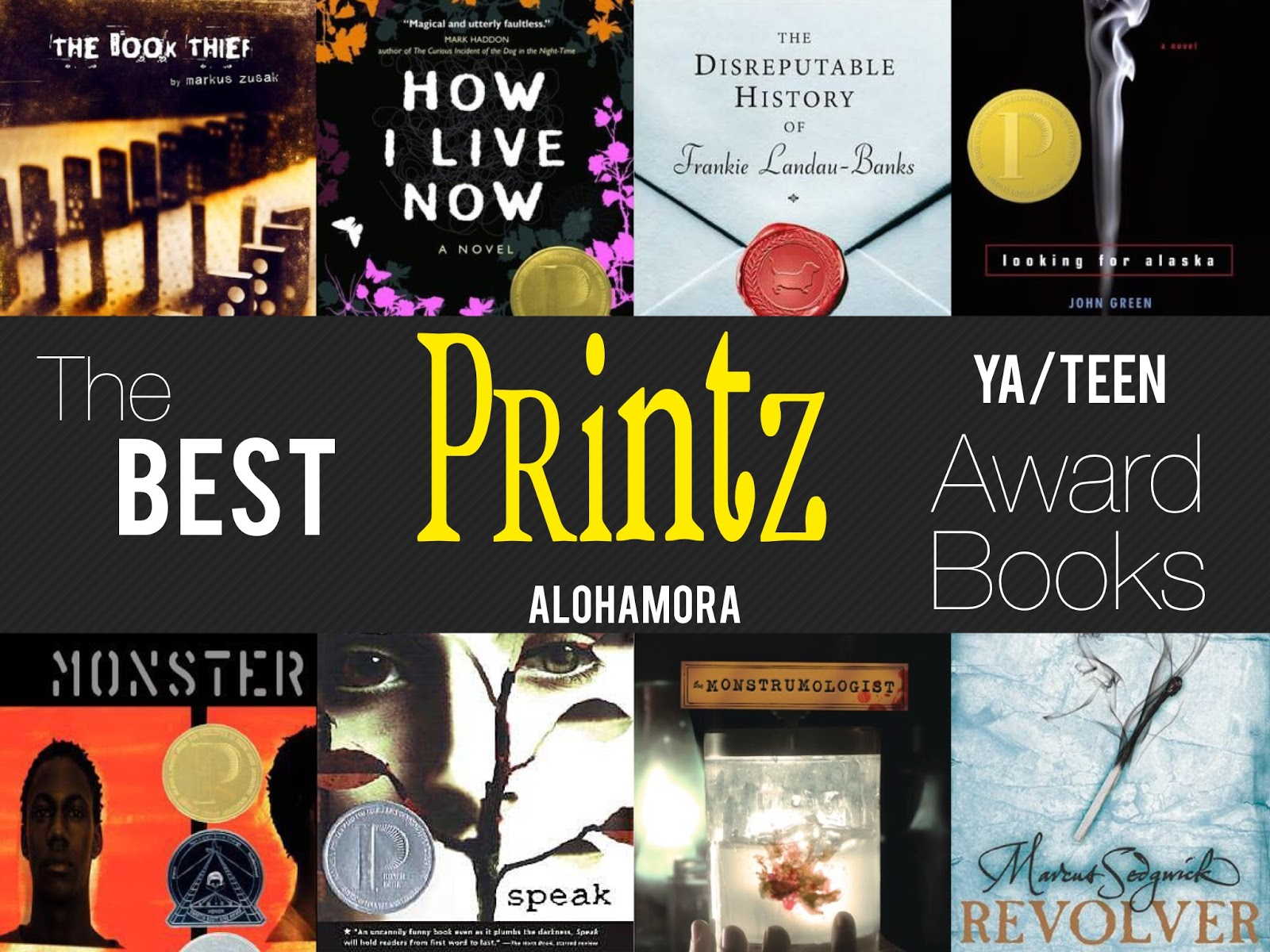 The 8 Best Printz Award Books. The Printz award is the best books for Teens/YA's (Young Adults).  These books are fabulous, with realistic fiction, horror, dramas, border school, girl power, boy books, and more.  Great reads boys and girls will enjoy! Alohamora Open a Book http://alohamoraopenabook.blogspot.com/