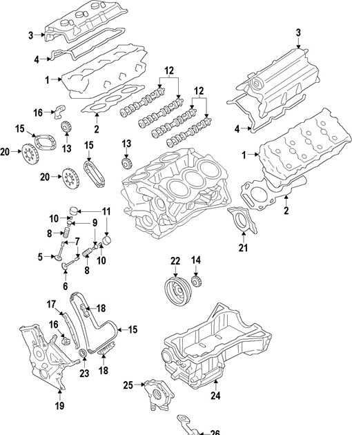 Ford Taurus 2009 Engine Parts Component