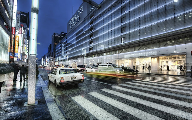 Ginza District in Tokyo City