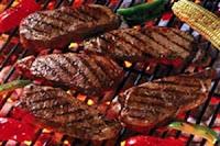 منظر قطع اللحم المشوى تهدىء أعصاب الرجال :)