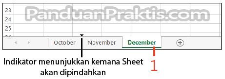 Gambar: cara memindahkan worksheet ke worksheet lain.