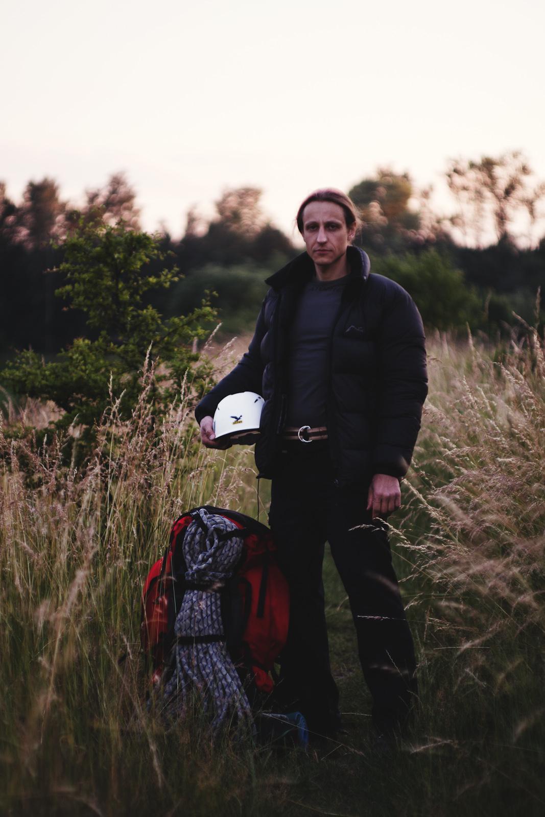Portret wspinacza. fot. Łukasz Cyrus