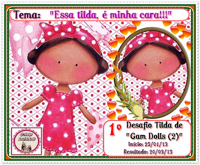 "1º DESAFIO TILDA EM ""GAM DOLLS (2)""!!!"