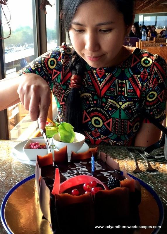 my chocolate fudge birthday cake at Radisson Blu