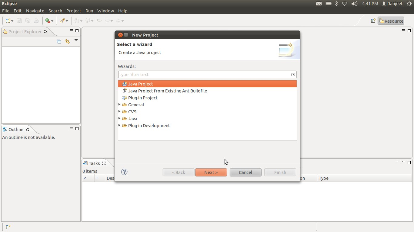 how to create a weka project in eclipse