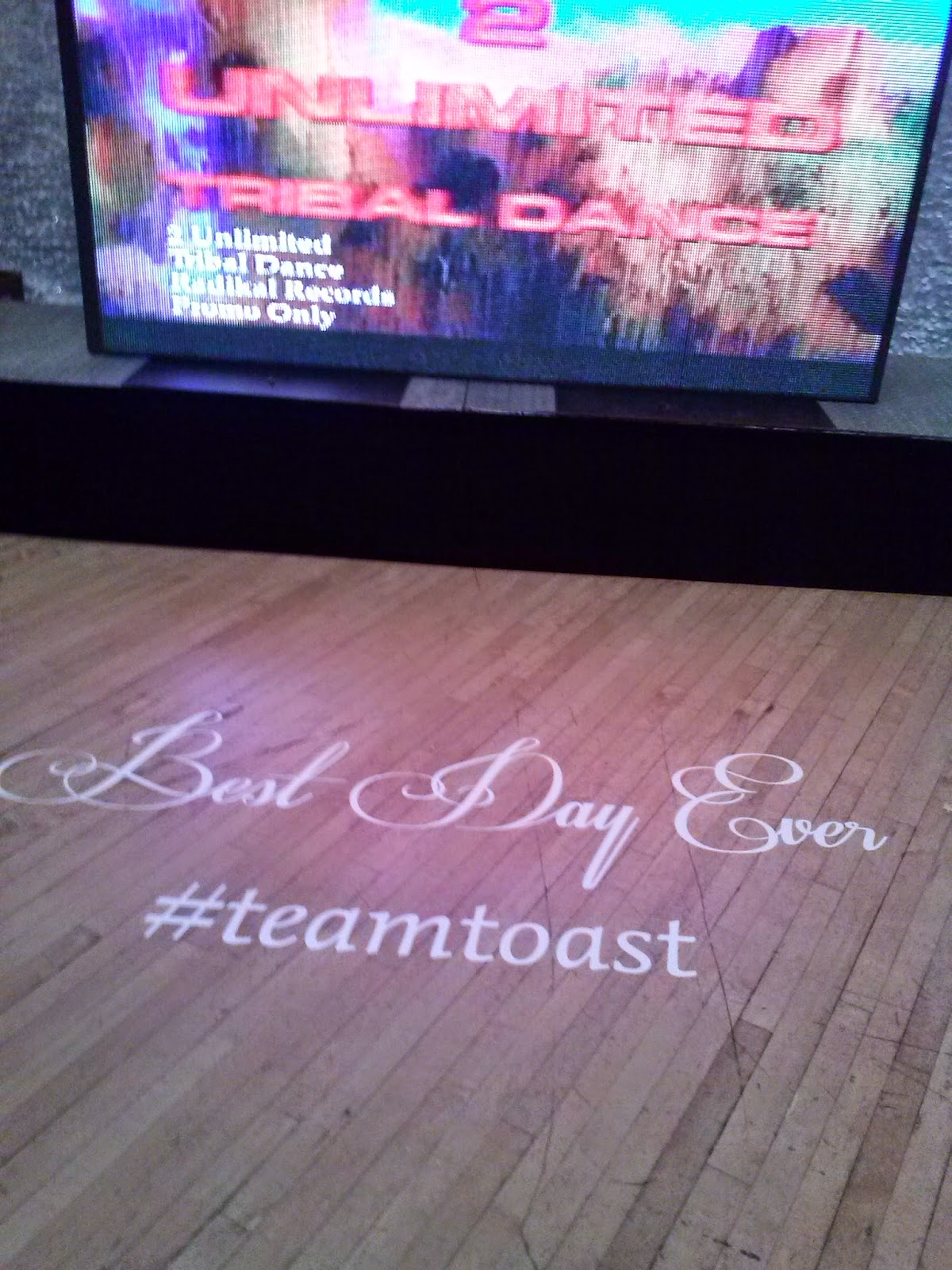 Best Day Ever Wedding Dance Floor Decal