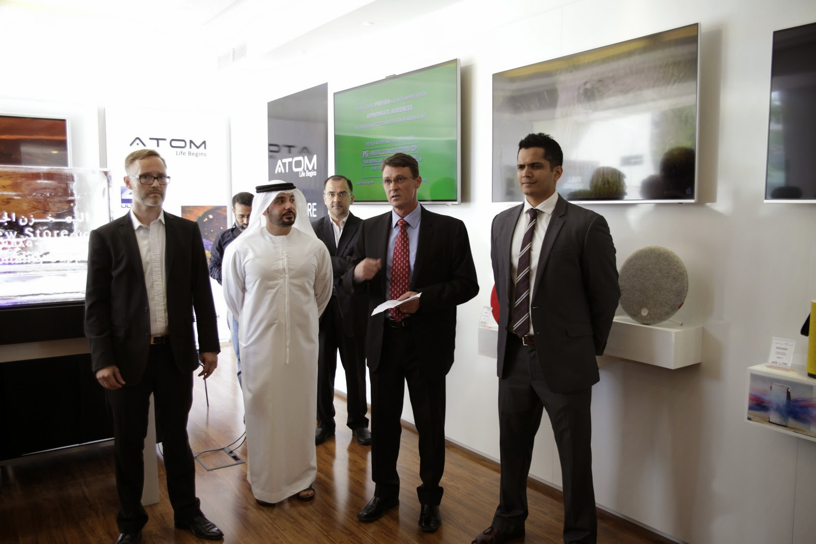 Atom Technologies Dubai showroom launch