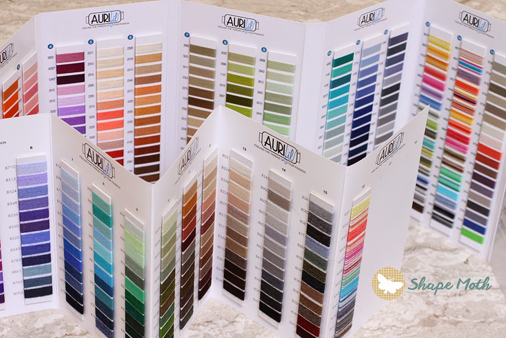 and i have some small treat for you a quick giveaway open till monday 22102014 2400 cest - Aurifil Thread Color Chart