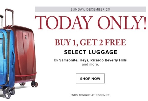 Hudson's Bay Luggage Buy 1 Get 2 Free