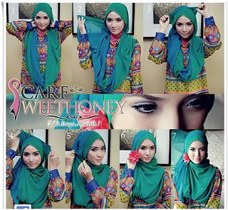 Cara Memakai Hijab Untuk Wajah Lonjong