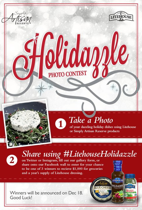 The holidays are here and we're all busy, save time with this delicious recipe and save money with the coupon I'm sharing as well! #LitehouseHolidazzle #ConnectLH