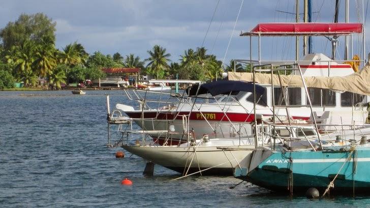 La Marina de Teahupoo sur la presqu'île de Tahiti Iti