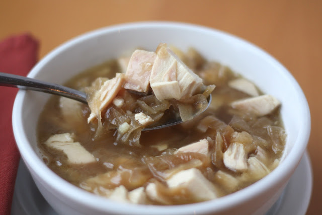 Carmelized Onion Chicken Soup recipe by Barefeet In The Kitchen