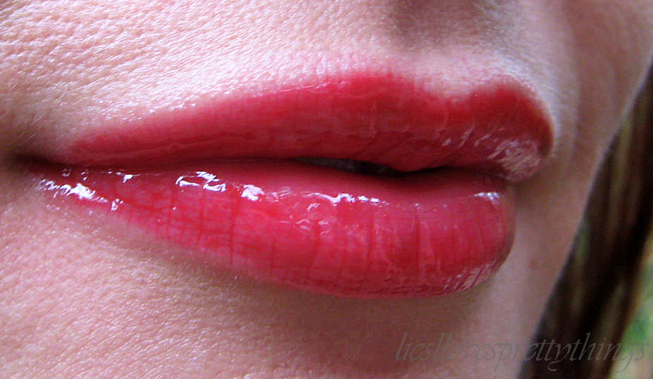 NYX Butter Gloss Cherry Pie swatch and review