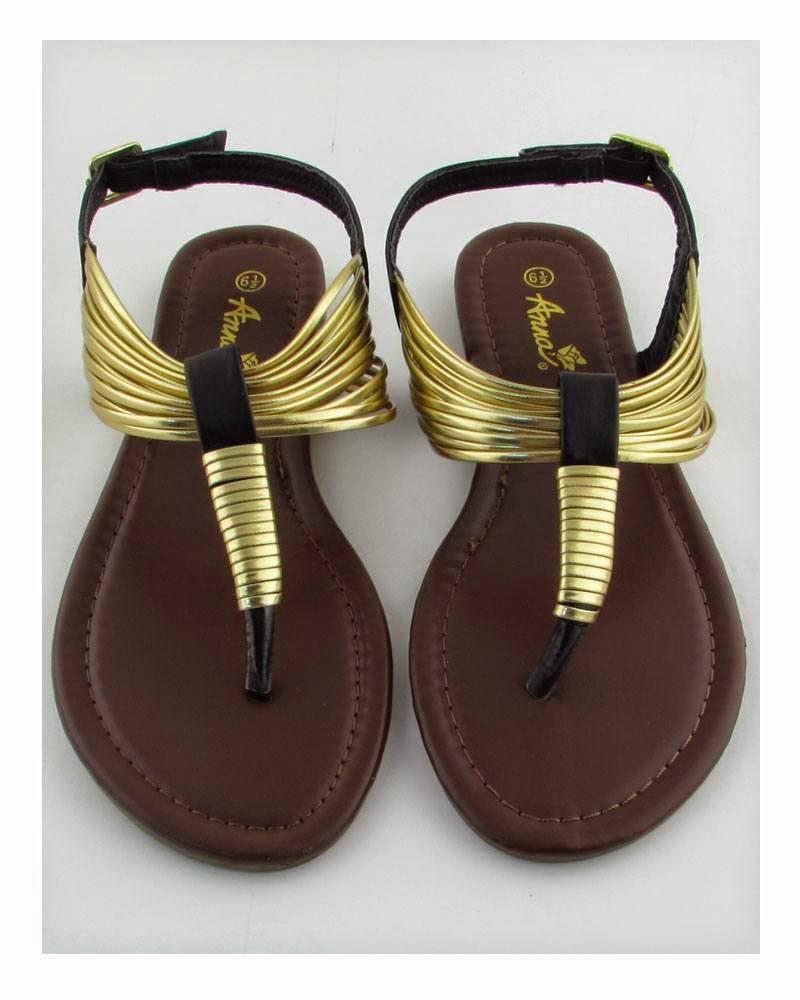 gold thong sandal flats