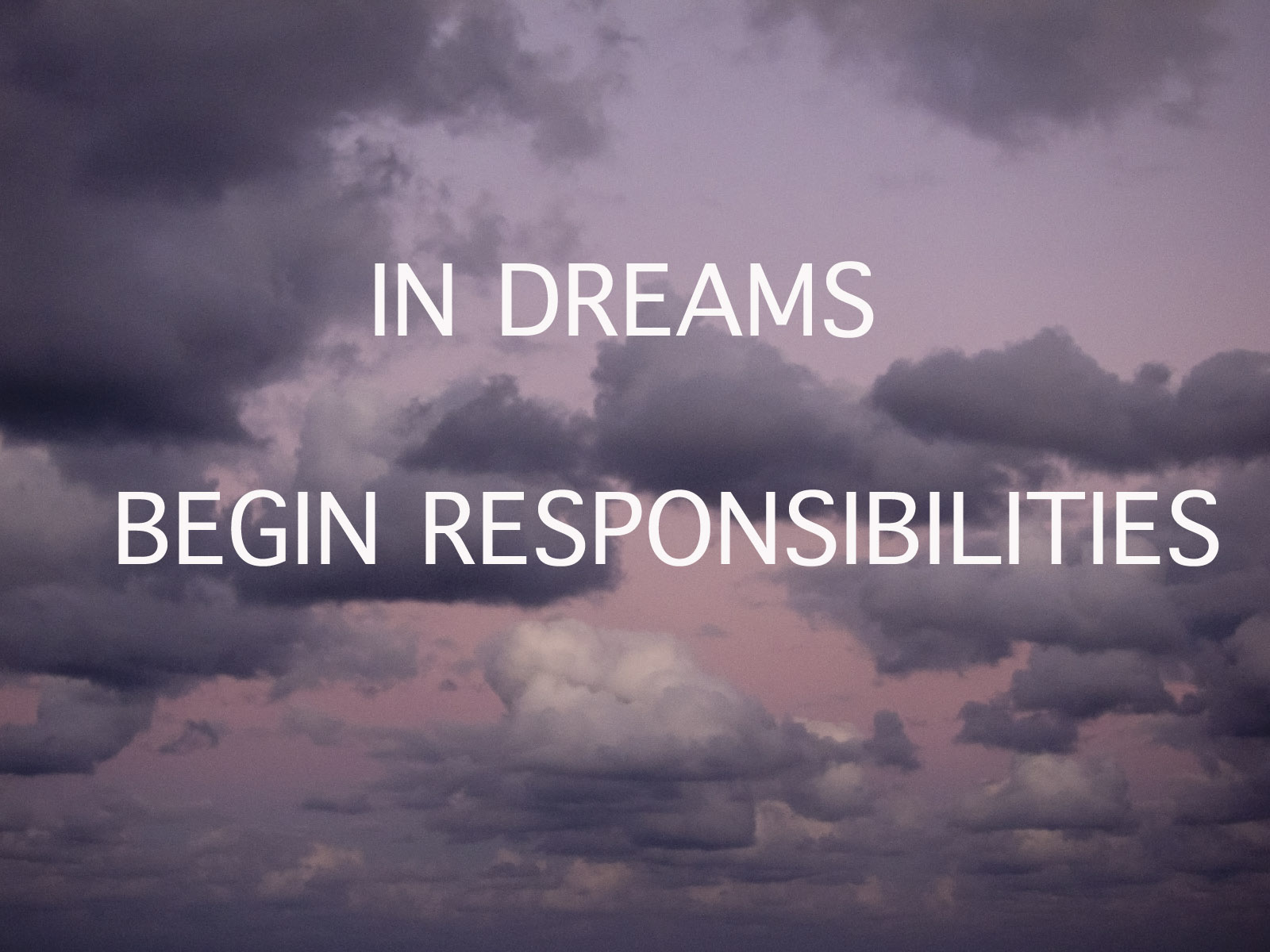 in dreams begin responsibilities analysis
