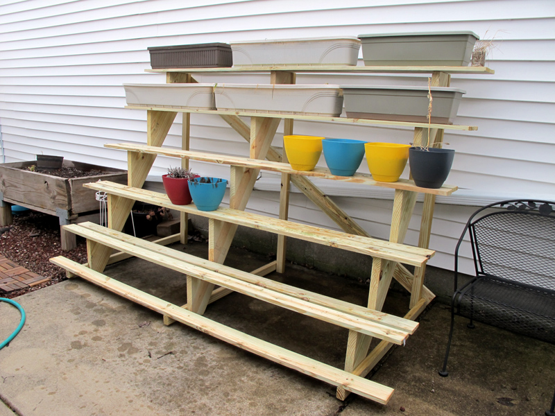 Letter Blocks Say What How To Build A Tiered Plant Stand
