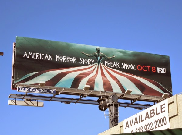American Horror Story Freak Show circus tent billboard