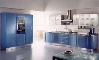 Pictures Contemporary Blue Kitchen Cabinets