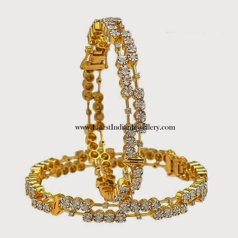 Designer Pair of Diamond Bangles