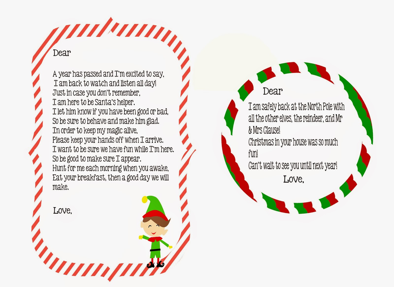 Looking for a welcome or goodbye letter for your elf? You can grab ...