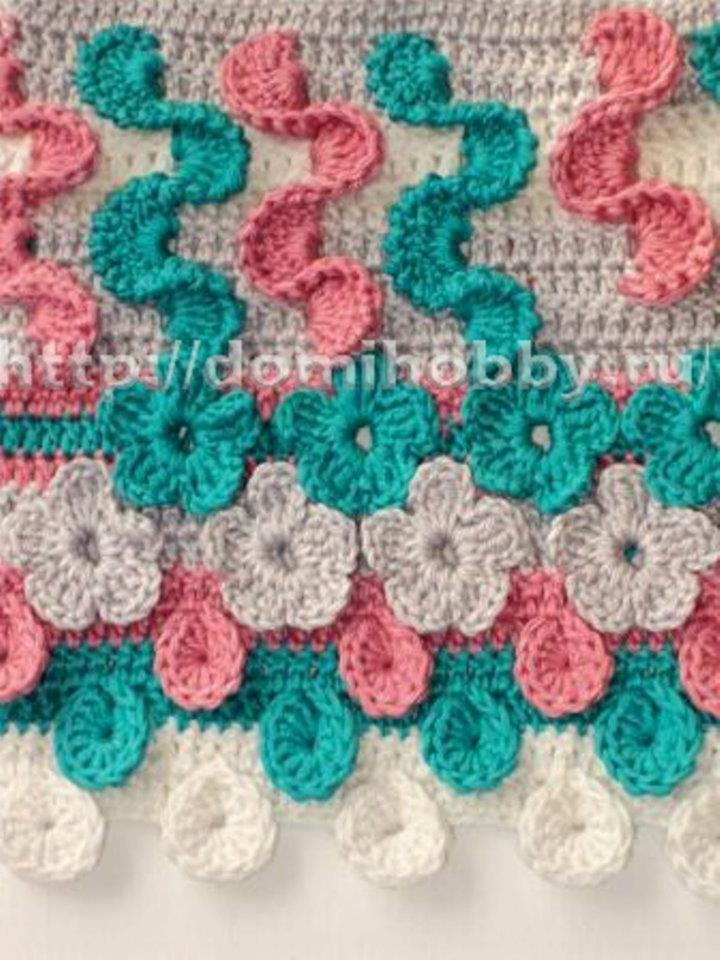 Crochet Y Stitch : As Receitas de Croche: Ponto segredo de flores
