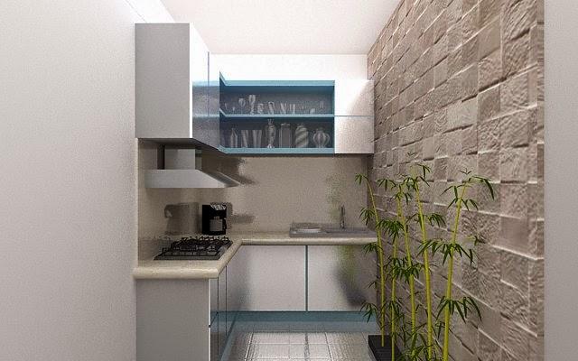 desain dapur minimalis, rendering vray sketchup