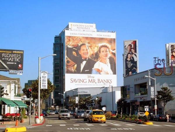 Giant Saving Mr Banks billboard