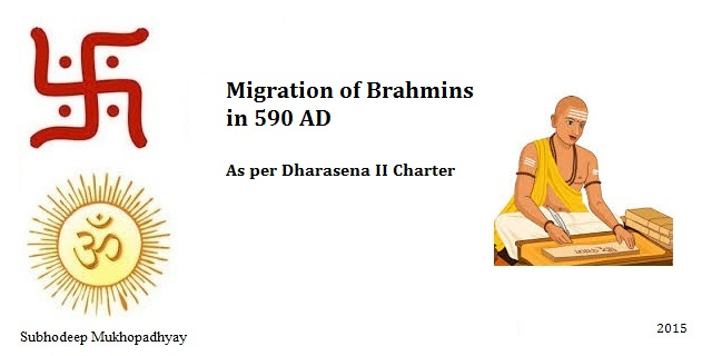 Migration of Brahmins as per Dharasena II Charter