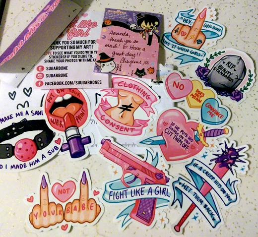 Fight Like A Girl sticker set by Sugarbones