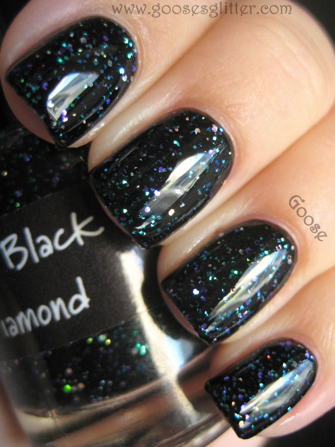 Goose\'s Glitter: CrowsToes - Triple Black Diamond: Swatches and Review
