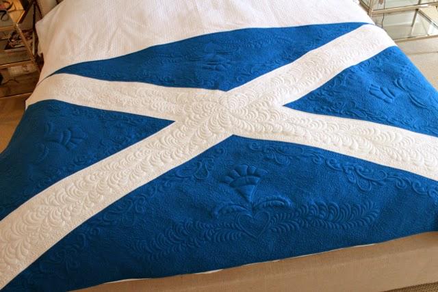 Rachael Rabbit Scottish Flag Quilt