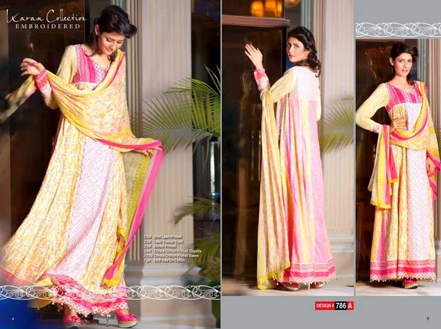 Karam Latest Embroidered Dresses Collection