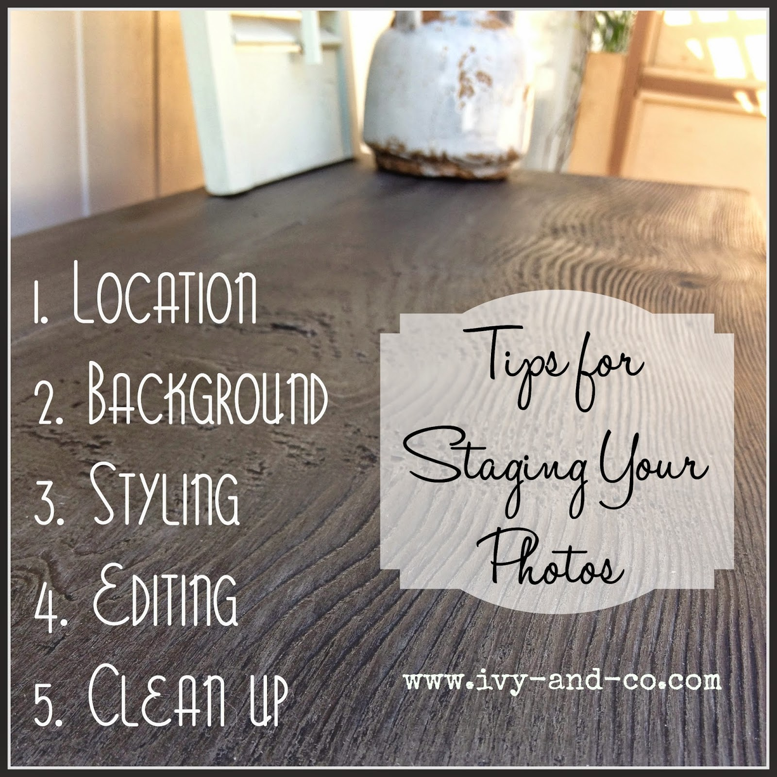 tips for staging your blog photos