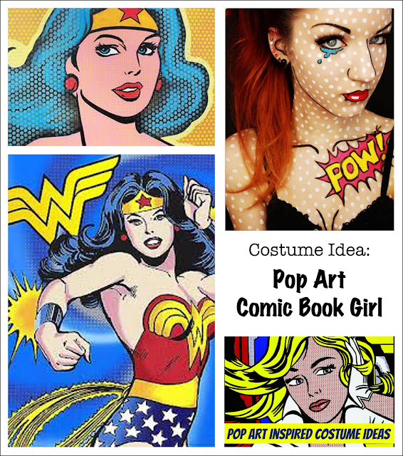 living with ThreeMoonBabies | costume idea: A Pop Art Comic Book Girl