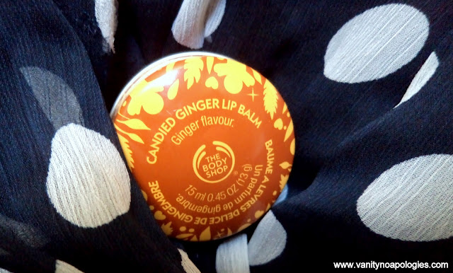 the body shop spiced vanilla cranberry joy lip balm