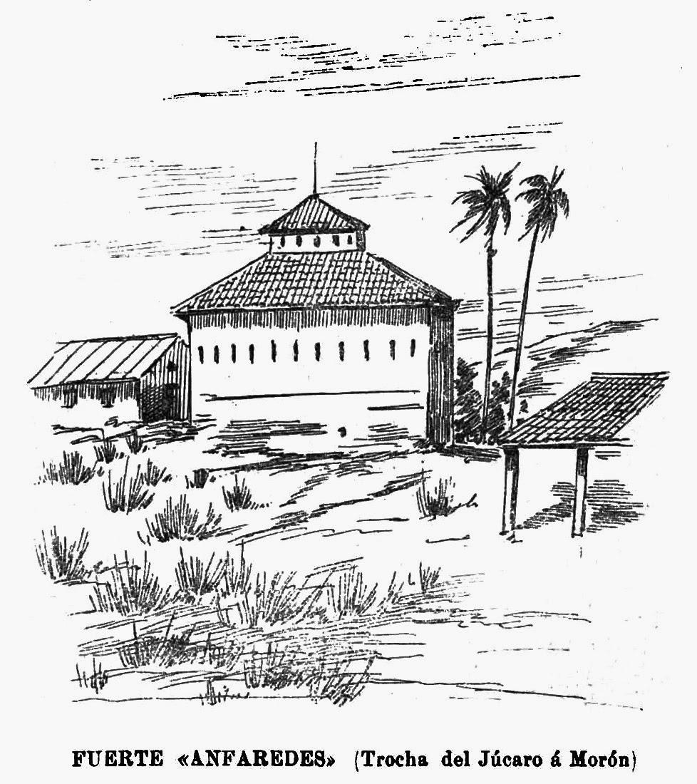 Litografía del fortín Anfaredes