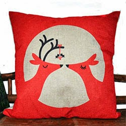 Pillow Cover Cushion Case, In-Love Deer