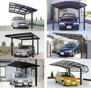 Model kanopi ruang parkir rumah