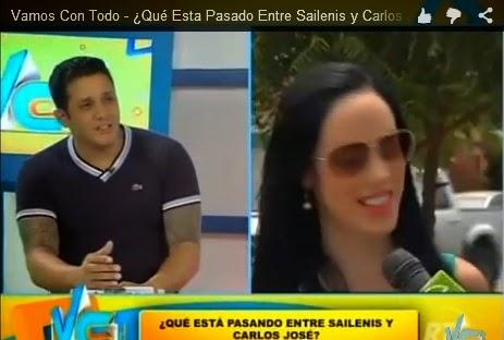 Carlos José Matamoros y Sailenis juntos