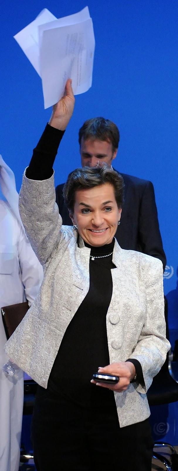 Christiana Figueres, Doha 2012.