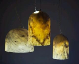 lamparas de marmol