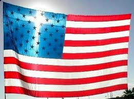 USA Flag with cross
