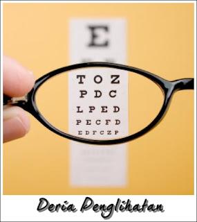 Deria penglihatan menggunakan organ mata