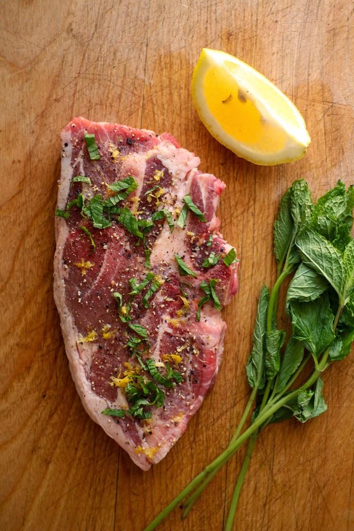 Lamb Leg Steaks with Veggie-Packed Israeli Cous Cous