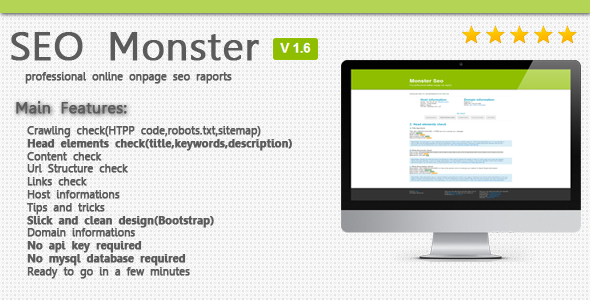 CodeCanyon - SeoMonster v1 8 - OnPage SEO Raporting PHP Script