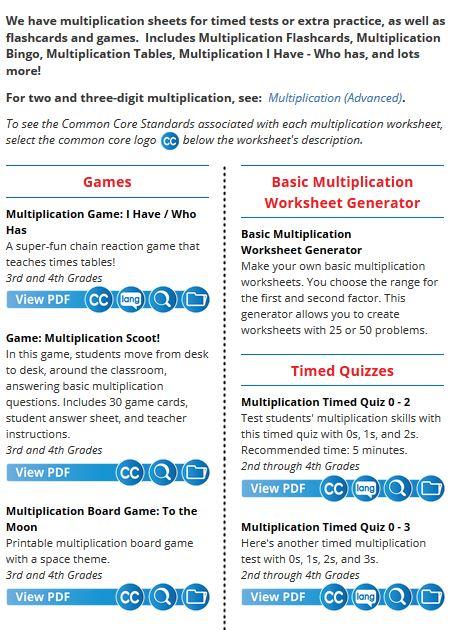 Super Teacher Worksheets Multiplication Table & multiplication ...